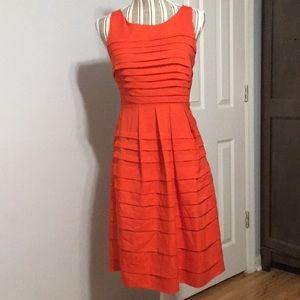 Eva Franco red pleated dress size 4